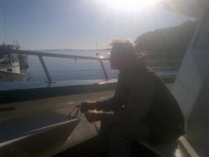 John looking at the harbor.